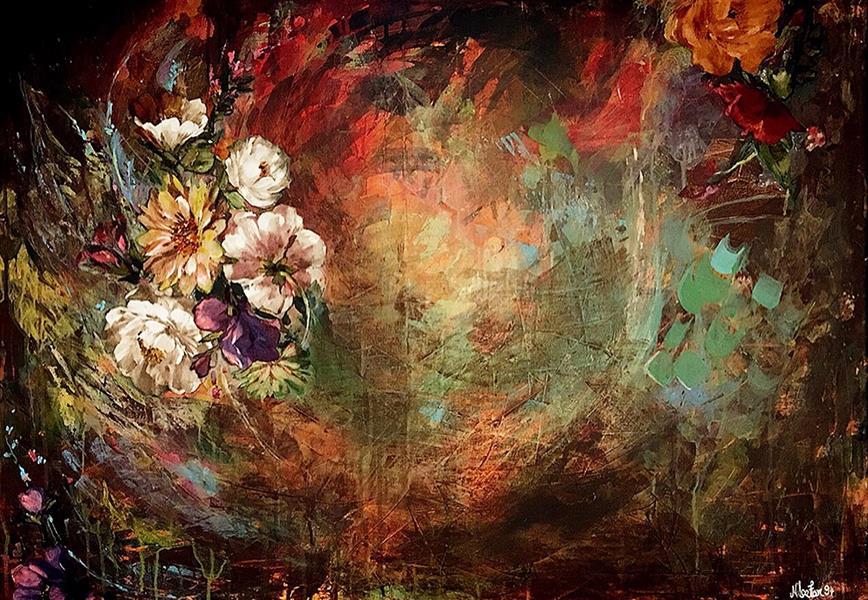 هنر نقاشی و گرافیک محفل نقاشی و گرافیک نیلوفر کرم آشتیانی ۷۰*۵۰ #اکرلیک روی #بوم #دکوراتیو