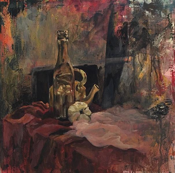 هنر نقاشی و گرافیک محفل نقاشی و گرافیک نیلوفر کرم آشتیانی #اکرلیک روی #بوم  ۵۰*۵۰ #طبیعت_بیجان