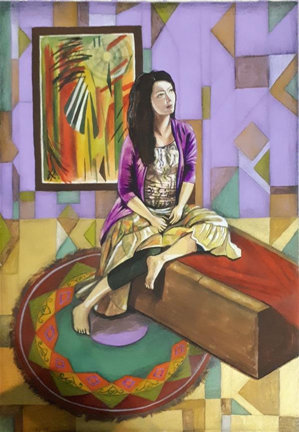هنر نقاشی و گرافیک محفل نقاشی و گرافیک زهرا اصل دهقان متریال: گواش و آبرنگ  ۳۵ × ۲۵