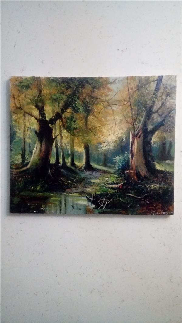 هنر نقاشی و گرافیک محفل نقاشی و گرافیک توحید ظفرجو(omen) رنگ روغن 50×60 طبیعت سرد