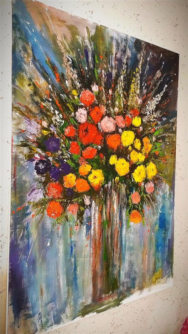 هنر نقاشی و گرافیک محفل نقاشی و گرافیک توحید ظفرجو(omen) امپرسیون گلهای رز..... 100*70