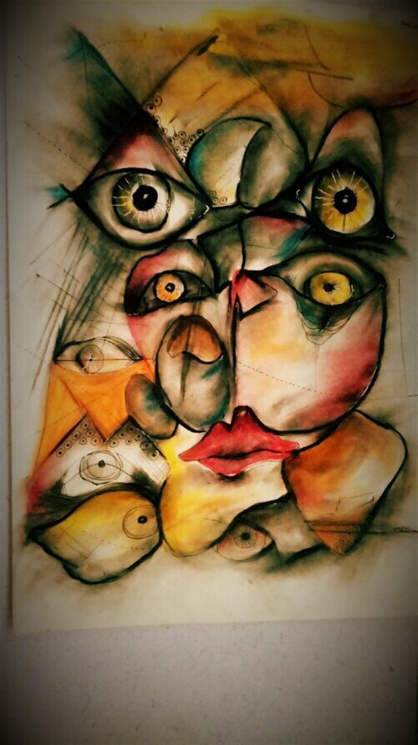 هنر نقاشی و گرافیک محفل نقاشی و گرافیک توحید ظفرجو(omen) اکرلیک #خواب و بیداری