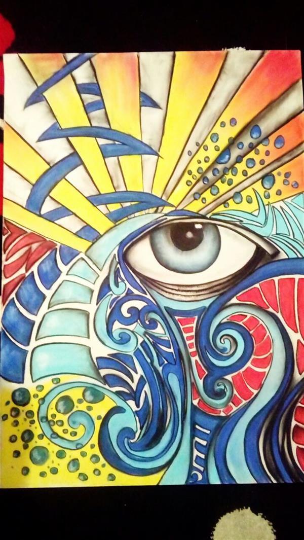 هنر نقاشی و گرافیک محفل نقاشی و گرافیک توحید ظفرجو(omen) نام اثر: تضاد 50×70 cm پاستل گچی