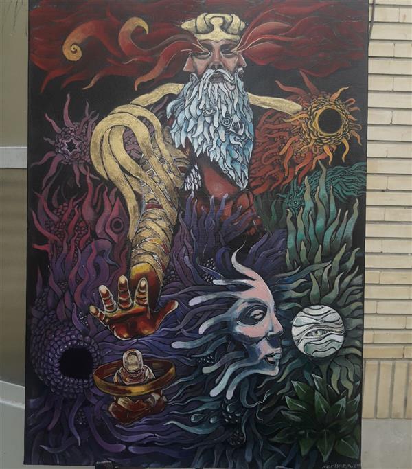 هنر نقاشی و گرافیک محفل نقاشی و گرافیک نریمان امیدی #نقاشی#بوم ۵۰ در ۷۰ رنگ اکرولیک