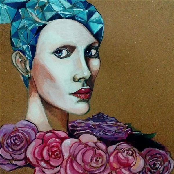 هنر نقاشی و گرافیک محفل نقاشی و گرافیک نریمان امیدی #متریال رنک اکرولیک روی مقوا#ابعاد ۳۰ در ۳۰#