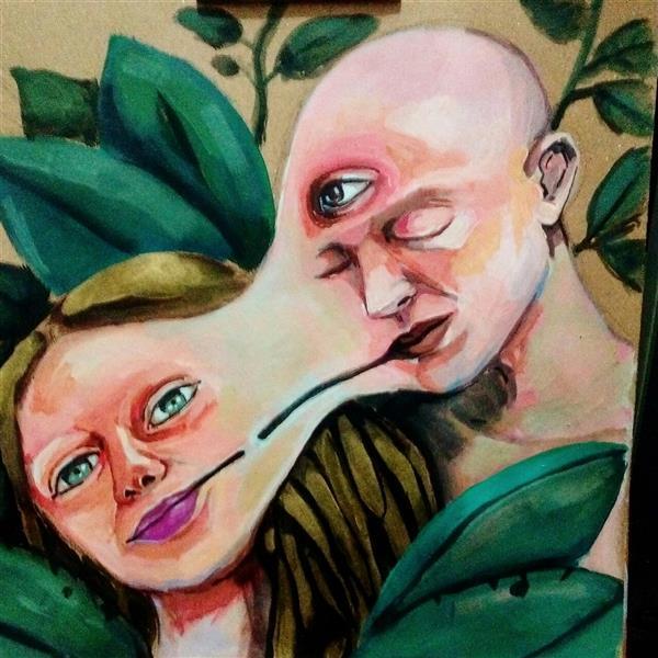 هنر نقاشی و گرافیک محفل نقاشی و گرافیک نریمان امیدی #تکنیک اکرولیک روی مقوا#ابعاد ۳۰ در ۳۰