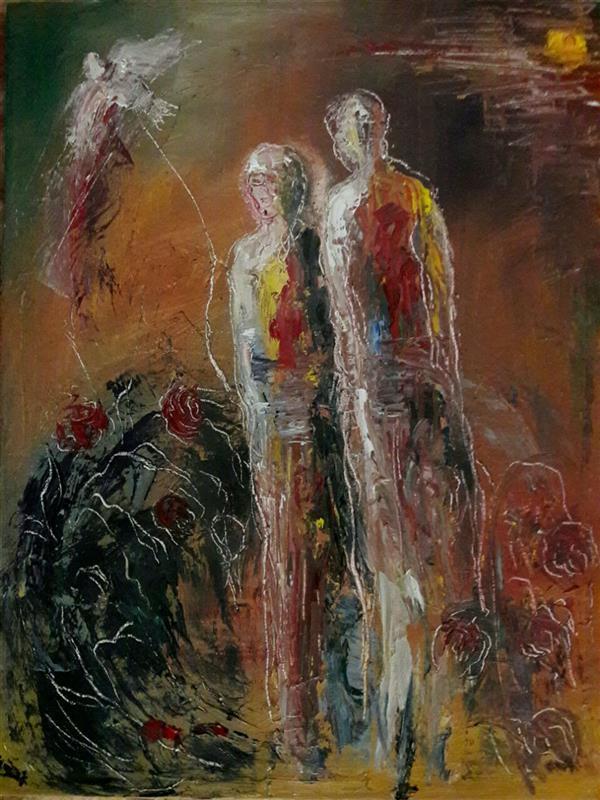 هنر نقاشی و گرافیک محفل نقاشی و گرافیک معصومه باقری #رنگ روغن روی بوم  #سایز 30*40
