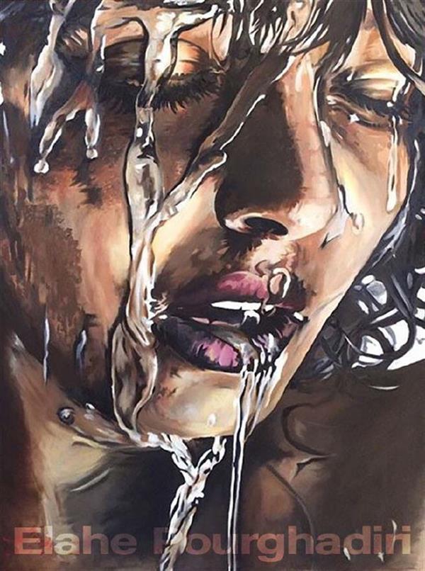 هنر نقاشی و گرافیک محفل نقاشی و گرافیک Elahe Pourghadiri تابلو رنگ روغن ابعاد: ٨٠ * ٦٠ (cm * cm) #oilpainting #wet #rain