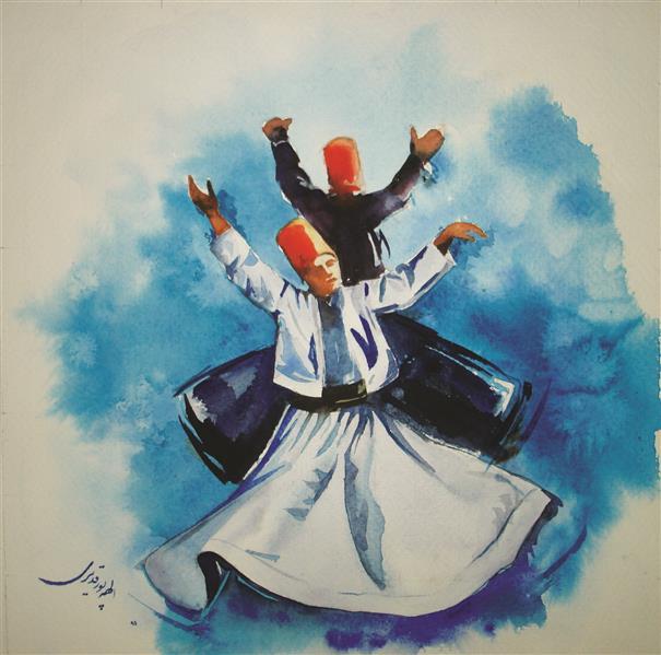 هنر نقاشی و گرافیک محفل نقاشی و گرافیک Elahe Pourghadiri نقاشی آبرنگ ابعاد : 30 * 30 (cm*cm) آثار بیشتر در صفحه اینستاگرام elart_painting #watercolor #sama-dance #dance
