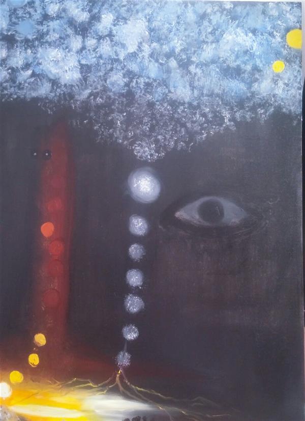 هنر نقاشی و گرافیک محفل نقاشی و گرافیک مریم دادگستر #نام اثر:ریشه ها  ابعاد 60×80 رنگ روغن روی بوم