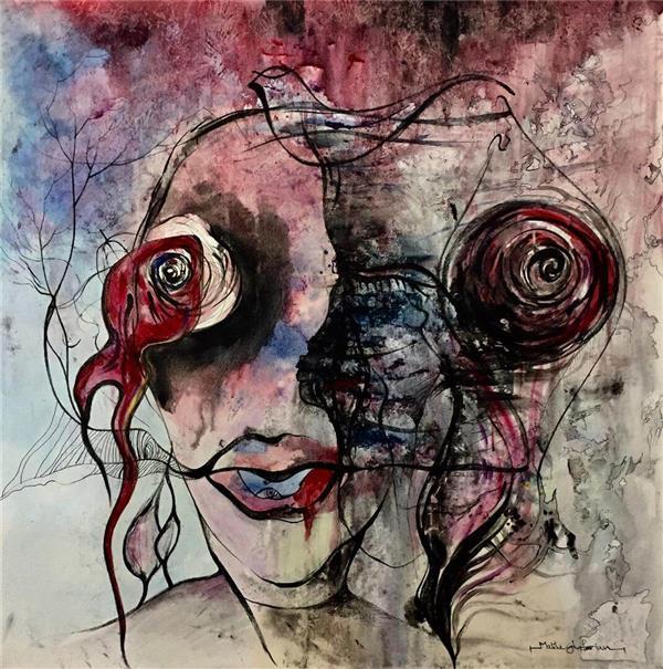 هنر نقاشی و گرافیک محفل نقاشی و گرافیک  ghafoorian (my heart. (size :70. 70 اکرلیک
