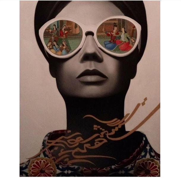 هنر نقاشی و گرافیک محفل نقاشی و گرافیک Samaneh Painting #فروخته_شد تابلو نقاشی خط کرشمه  —با موضوع ای عشق همه بهانه از توست— سایز١٠٠*٨٠   متریال رنگ و روغن روی بوم #ای#عشق#همه#بهانه#از#توست#