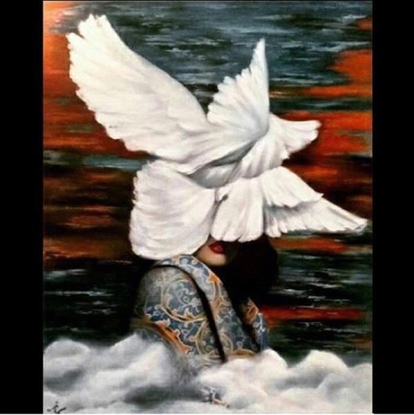 هنر نقاشی و گرافیک محفل نقاشی و گرافیک Samaneh Painting تابلو نقاشی قاب شده رنگ و روغن  سایز ١٠٠*٨٠