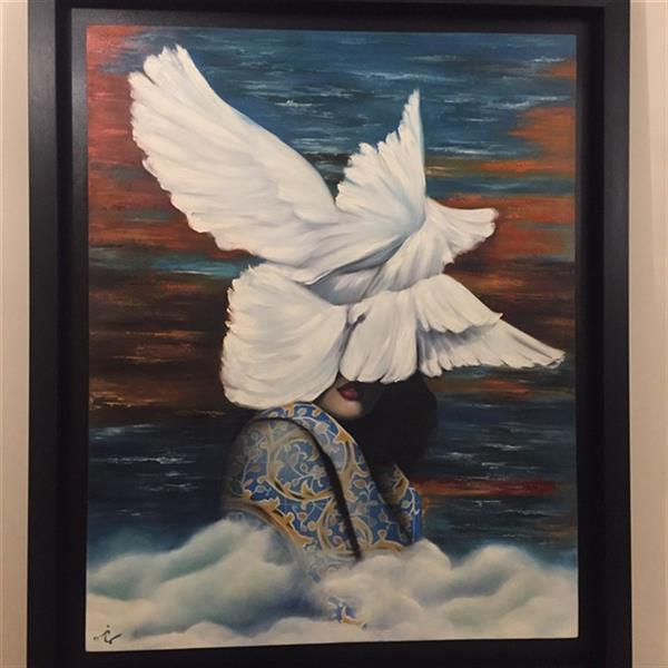 هنر نقاشی و گرافیک محفل نقاشی و گرافیک Samaneh Painting تابلو نقاشی قاب شده رنگ و روغن  سایز ١٠٠*ت٨٠