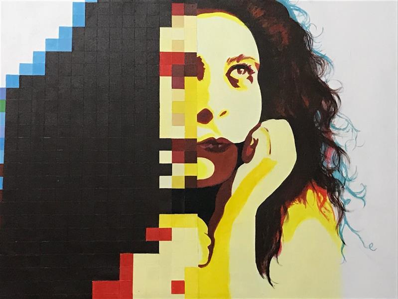 هنر نقاشی و گرافیک محفل نقاشی و گرافیک اتنادشتی #اکرلیک روی بوم ابعاد 50*70 اثر ثبت شده در کتاب سال گرافیک
