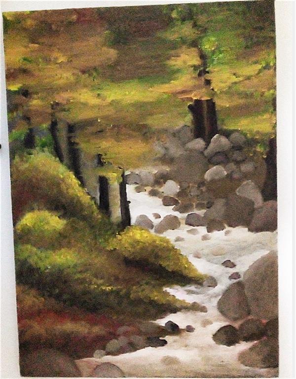 """هنر نقاشی و گرافیک محفل نقاشی و گرافیک ghazaleh sadr نام اثر""""سرابِ درختان""""! غزاله صدر شهریور ۱۴۰۰ رنگ روغن #نقاشی #رنگ #روغن #بوم #تابلونقاشی #تابلو #لوکس #لاکچری #خاص #طبیعت #منظره#nature#art#paint#painting"""