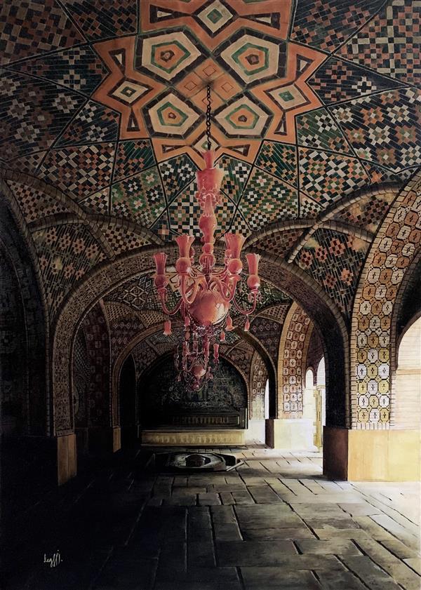 هنر نقاشی و گرافیک محفل نقاشی و گرافیک Negin monajemi رنگ روغن روی بوم حوضخانه عمارت گلستان