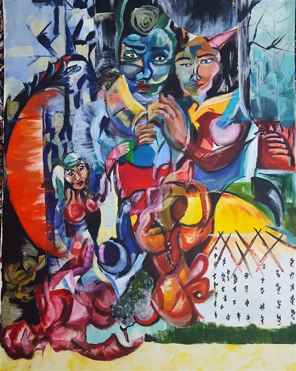 هنر نقاشی و گرافیک محفل نقاشی و گرافیک الهام طالب تبار  اکریلیک روی مقوا  سایز:50*70