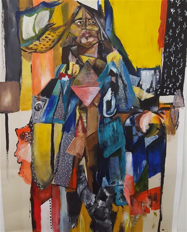 هنر نقاشی و گرافیک محفل نقاشی و گرافیک الهام طالب تبار  اکریلیک روی مقوا  60*90