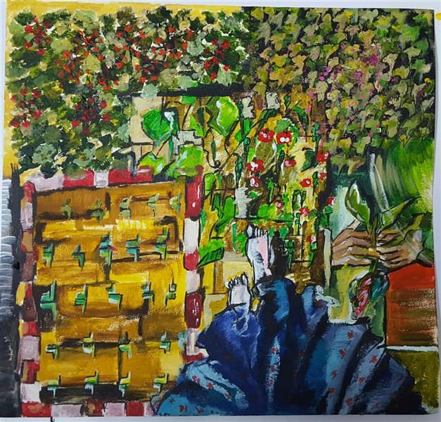هنر نقاشی و گرافیک محفل نقاشی و گرافیک الهام طالب تبار  اکریلیک روی مقوا  25*25
