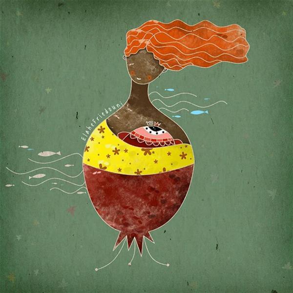 هنر نقاشی و گرافیک محفل نقاشی و گرافیک الهه فریدونی عنوان کار :دختر انار ابعاد کار :20×20 تکنیک کار : دیجیتال #تصویرسازی #تصویرگری #تصویرسازی_دیجیتال #illustration #illustrator #یلدا