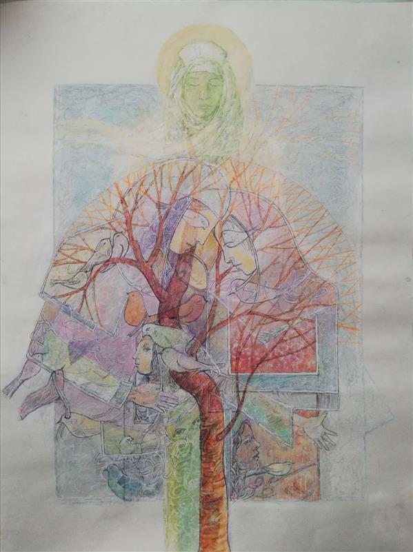 هنر نقاشی و گرافیک محفل نقاشی و گرافیک bahman zareian ترکیب مواد، مقوا، ۱۳۹۹ نام اثر : طوبی #بهمن_زارعیان