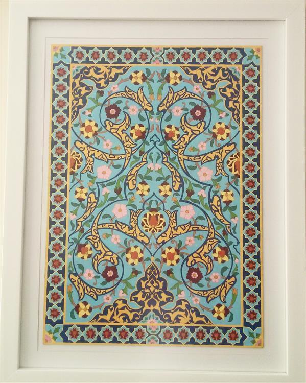 هنر نقاشی و گرافیک محفل نقاشی و گرافیک فرزانه مرادی #طرح_فرش #طرح_کاشی #گواش  سایز 50*70 سفارش پذیرفته می شود.