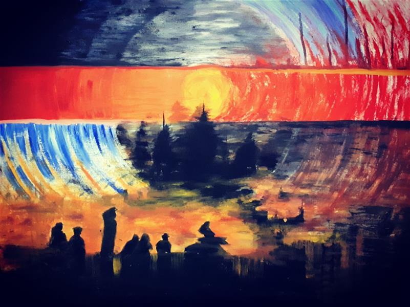 هنر نقاشی و گرافیک محفل نقاشی و گرافیک Saeed eskandari هنرمند : #سعیداسکندری نام اثر : #نارنجدرشانگهای ابعاد : ۶۰ × ۸۰ سانتی متر اکرلیک روی بوم