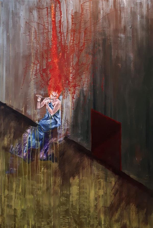 هنر نقاشی و گرافیک محفل نقاشی و گرافیک Saeed eskandari هنرمند : #سعیداسکندری  نام اثر : #فرارازسرزمینسرخ ابعاد : ۱۵۰ * ۱۰۰ سانتی متر اکرلیک روی بوم