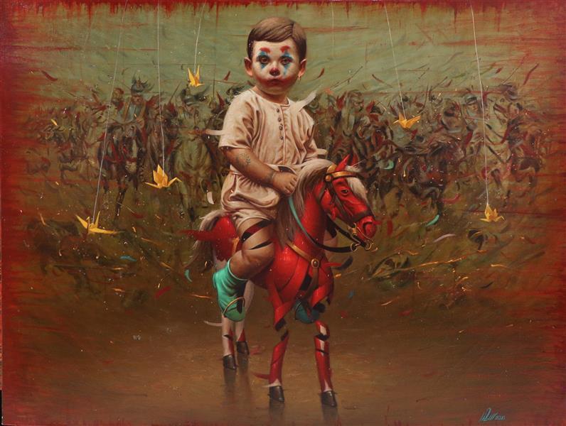 هنر نقاشی و گرافیک محفل نقاشی و گرافیک Saeed eskandari رنگ روغن روی بوم 2021  سعید اسکندری