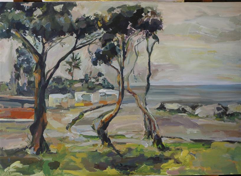 هنر نقاشی و گرافیک محفل نقاشی و گرافیک Frostami ساحل دریای خزر  تکنیک: #اکرولیک  #Natur #دریا #طبیعت