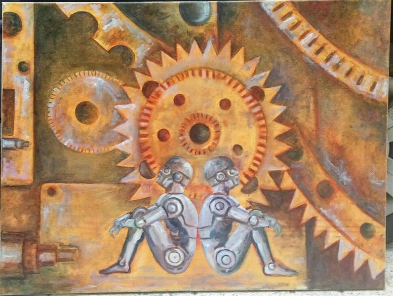 هنر نقاشی و گرافیک محفل نقاشی و گرافیک شمس آفاق حسینیان #رنگ روغن #اندازه:60*80 #عنوان :بدون عنوان