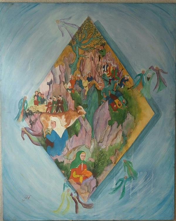 هنر نقاشی و گرافیک محفل نقاشی و گرافیک شمس آفاق حسینیان #اندازه150 *120#عنوان:بدون عنوان#تکنیک:#اکرلیک قیمت :توافقی