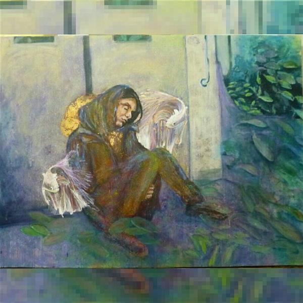 هنر نقاشی و گرافیک محفل نقاشی و گرافیک شمس آفاق حسینیان #اندازه150 *200 # رویا عنوان :#روزمرگی#اکرلیک قیمت ؛توافقی