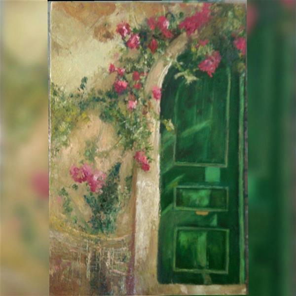 هنر نقاشی و گرافیک محفل نقاشی و گرافیک شمس آفاق حسینیان #تکنیک رنگ روغن# #اندازه 40*50 #گل  #عنوان ؛بدون عنوان