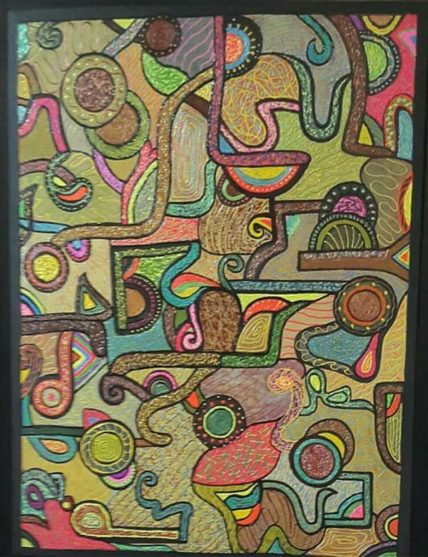 هنر نقاشی و گرافیک محفل نقاشی و گرافیک نازنین نامجوفرد #نام :نازنین نامجوفرد #نام اثر:دنس کوبیسم #تکنیک:کوبیسم #متریال:اکرلیک لاینر #ابعاد:۶۰×۸۰