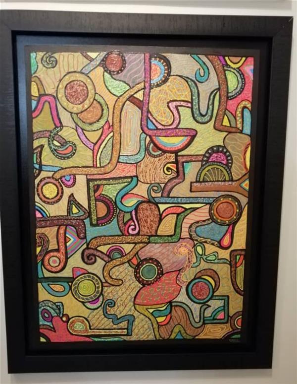 هنر نقاشی و گرافیک محفل نقاشی و گرافیک نازنین نامجوفرد نام:نازنین نامجوفرد عنوان:دنس کوبیسم  ابعاد:۶۰×۸۰ تکنیک:کوبیسم