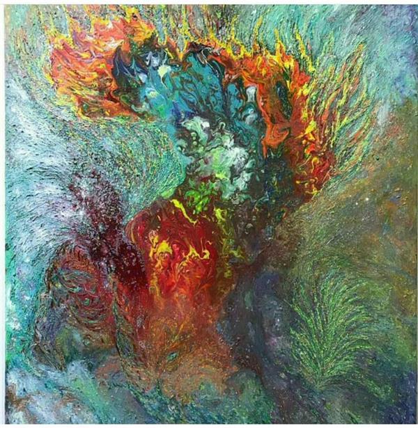 هنر نقاشی و گرافیک محفل نقاشی و گرافیک نازنین نامجوفرد #نازنین نامجوفرد #نام اثر:شروعی دوباره #سبک:آبستره ابعاد:۱۰۰×۸۰ #متریال:اکرلیک