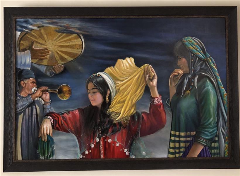 هنر نقاشی و گرافیک محفل نقاشی و گرافیک مرجان دانایی 80*120cm Oil on canvas نام اثر:رقص در باد رنگ روغن روی بوم