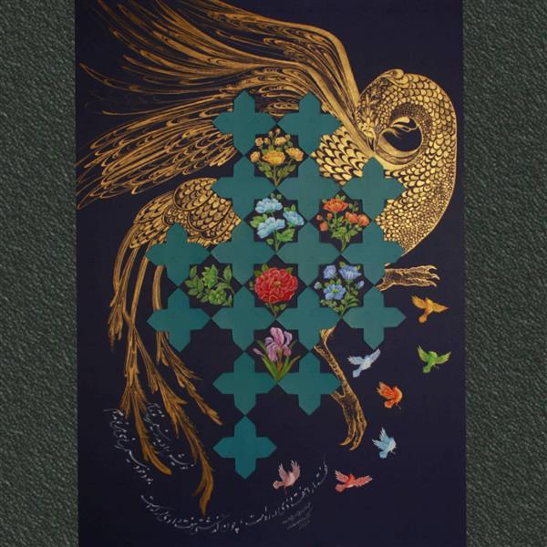 هنر نقاشی و گرافیک محفل نقاشی و گرافیک مهرنوش مهرابی #نگارگری#آبرنگ و #گواش#هفت_شهر_عشق 100x70cm