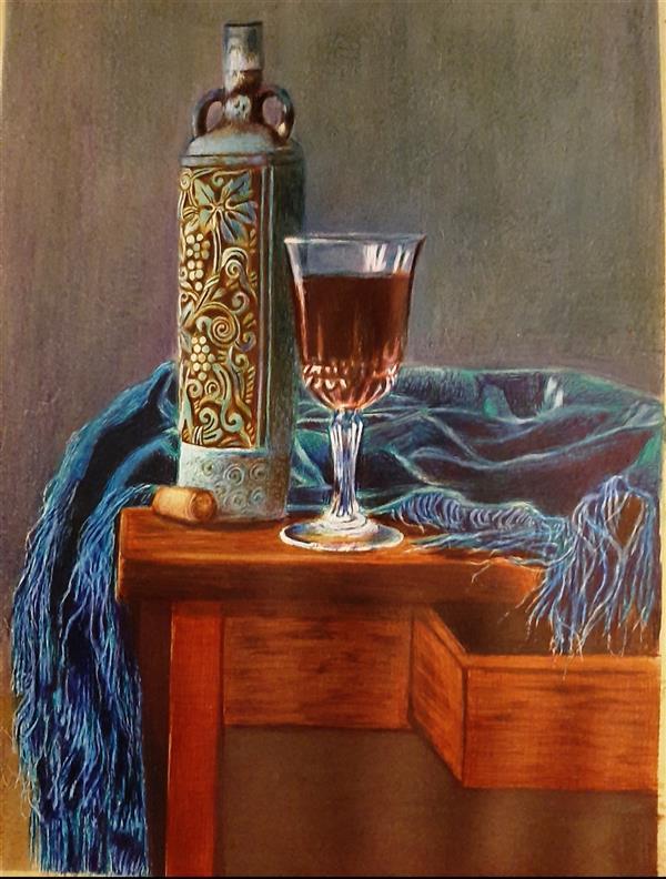 هنر نقاشی و گرافیک محفل نقاشی و گرافیک مهرنوش مهرابی #نقاشی#خودکاررنگی