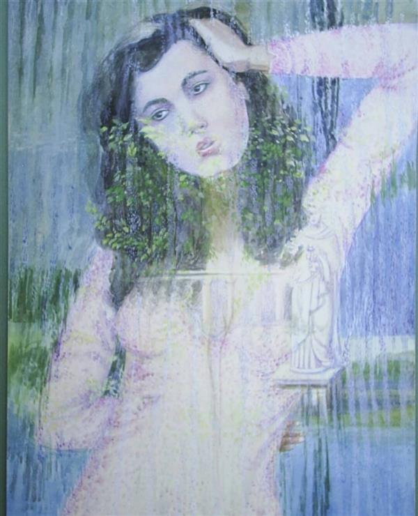 هنر نقاشی و گرافیک محفل نقاشی و گرافیک مهرنوش مهرابی #آبرنگ#گواش نام اثر:باران عشق