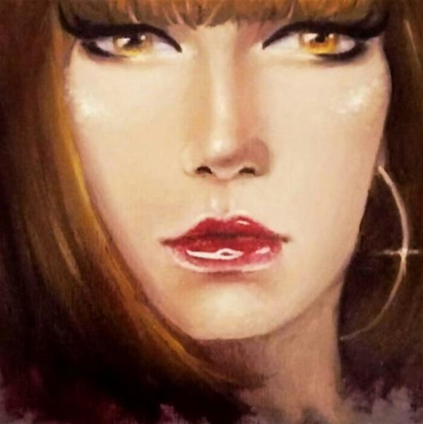 هنر نقاشی و گرافیک محفل نقاشی و گرافیک Zahra-arts #ذهنی#پرتره#50×50
