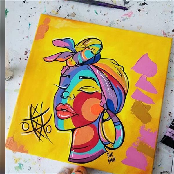 هنر نقاشی و گرافیک محفل نقاشی و گرافیک Zahra-arts 🔴🔥🔥Sefarsh#paintings oil#ba abad mokhtalef#new #new #new