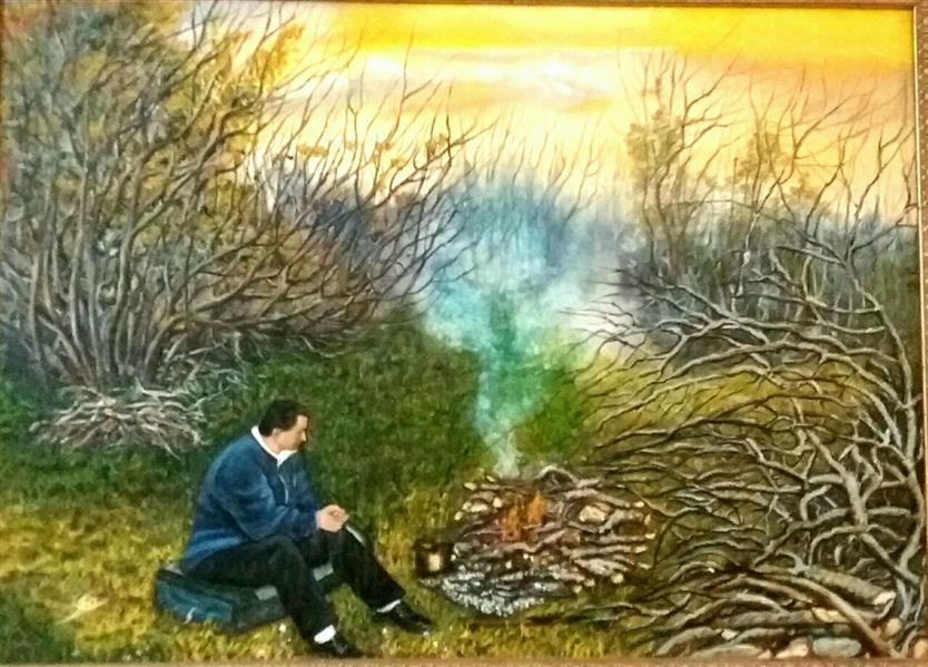 هنر نقاشی و گرافیک محفل نقاشی و گرافیک نگار غروب پاییزی -سایز ۷۰در۵۰