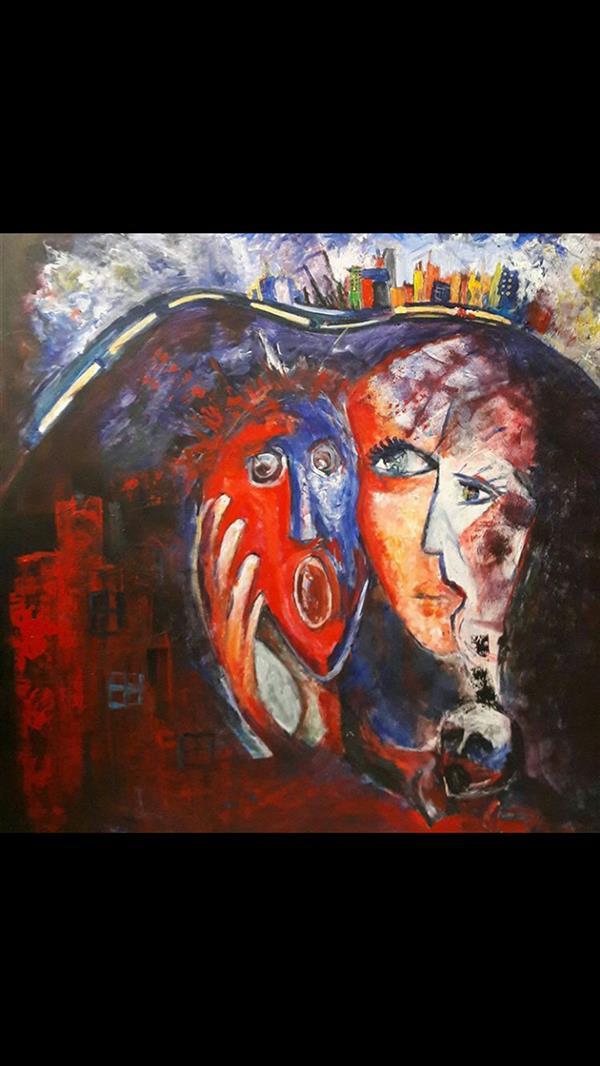 هنر نقاشی و گرافیک محفل نقاشی و گرافیک Bahareh nosrati عنوان اثر:زیر پوست شهر ۸۰.۸۰ هنرمدرن سبک اکسپرسیونیسم اکریلیک روی بوم
