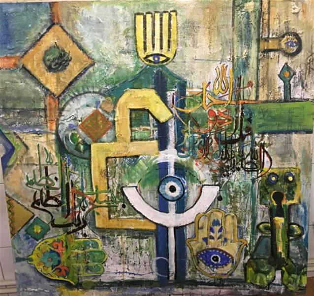 هنر نقاشی و گرافیک محفل نقاشی و گرافیک Bahareh nosrati هنر مدرن#سبک سقاخانه#آکریلیک