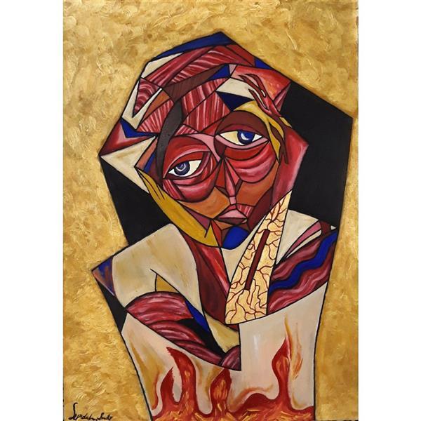 هنر نقاشی و گرافیک محفل نقاشی و گرافیک Sepide_sadr آشفتگی رنگ روغن-آکریلیک #اکسپرسیونیسم 50×35