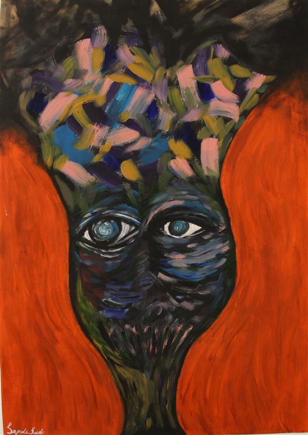هنر نقاشی و گرافیک محفل نقاشی و گرافیک Sepide_sadr تلاطم سکوت #اکسپرسیونیسم #رنگ روغن ۵۰ × ۳۵