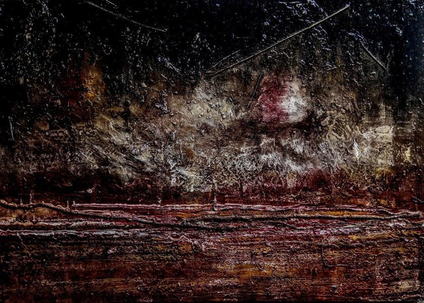 هنر نقاشی و گرافیک محفل نقاشی و گرافیک قادر سلیمانی #رنگ_روغن #مدرنیسم ۶۰×۴۰